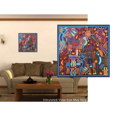 Eliseo de la Cruz Benítez: Premier Huichol Yarn Painting