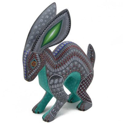 Oaxacan Wood Carving: Jacobo and Maria Angeles Rabbit