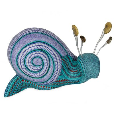 Oaxacan Wood Carving: Jacobo and Maria Angeles Workshop Snail