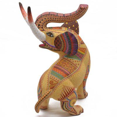Oaxacan Wood Carving - Julia Fuentes & J. Juan Melchor: Elephant