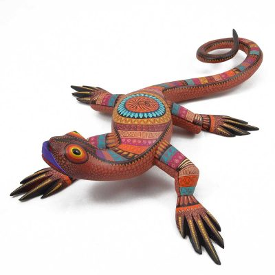 Julia Fuentes and Juan Melchor Lizard Oaxacan Wood Carving